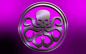 Picture sake, pink, fon, Marvel Comics, metall, tentacles, Hail Hydra