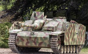 Picture war, installation, armor, artillery, gun, German, StuG III, self-propelled, world, Second, times, assault, average, Sturmgeschütz …