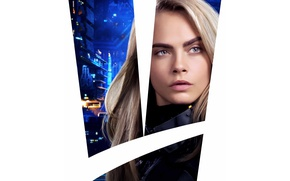 Wallpaper cinema, movie, film, Cara Delevingne, Laureline, Valerian And The City Of A Thousand Planets