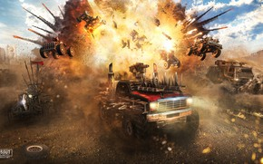 Picture machine, the explosion, Sandy valley, CROSSOUT