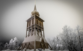 Picture winter, Church, Sweden, Kiruna, Kiruna