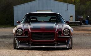 Picture Chevrolet, Camaro, Red, Old Custom Car