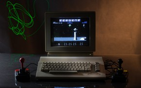 Picture computer, retro, the game, keyboard, classic
