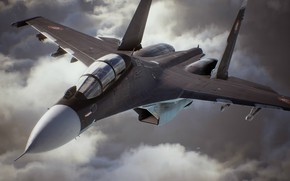 Picture game, sky, aircraft, cloud, jet, kumo, hunting, Ace Combat 7