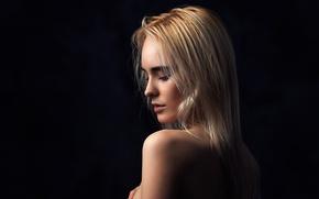 Picture girl, background, profile