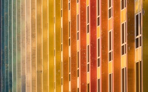 Picture color, the city, the building, Windows