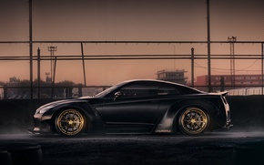 Picture mesh, GTR, Nissan, wheels, black, tuning