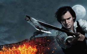 Picture axe, cinema, fire, flame, man, movie, film, Vampire Hunter, hunter, spark, Abraham Lincoln: Vampire Hunter