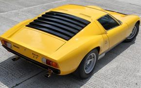 Picture Color, Auto, Lamborghini, Machine, 1971, Lights, Car, Supercar, Back, Lamborghini Miura, P400, Miura, SVJ, Lamborghini …