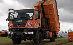 Picture Mercedes-Benz, truck, body, machinery, Unimog, U20