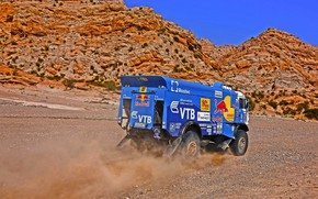 Picture Mountains, Grass, Dust, Rocks, Sport, Speed, Race, Master, Dirt, Squirt, Russia, Kamaz, Rally, Dakar, Dakar, …