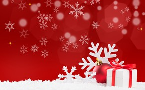 Picture ball, Christmas, gifts, New year, Christmas, snowflake, Photos, vectors