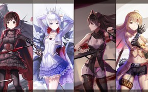 Picture girl, sword, weapon, anime, pretty, blade, bishojo, RWBY, japonese
