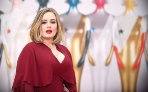 Picture red dress, red lipstick, STAR, RED, PEVICA, ADELE, ADELE