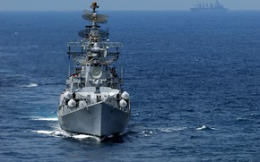Picture destroyer, the project 61мэ, the Indian Navy, ins rana