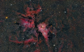 Picture NGC 3372, Kiel, emission nebula, in the constellation