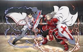 Picture anime, art, the battle, Sword Art Online