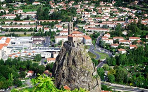 Picture the city, France, Cathedral, France, Le Puy-en-Velay, Saint Michel d Aiguilhe