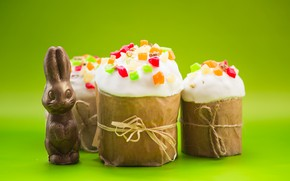 Picture chocolate, Easter, Holiday, chocolate Bunny, cakes