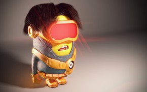 Wallpaper seifuku, yuusha, animated film, animted movie, Minion, X-Men, Despicable Me, toy, Cyclops, mutant, hero, super ...