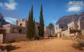 Picture mountains, home, settlement, Battlefield 1, Sinai Desert