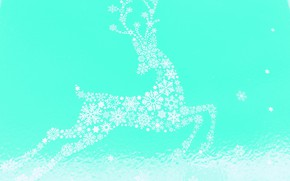 Picture snowflakes, background, deer, Mamala ©
