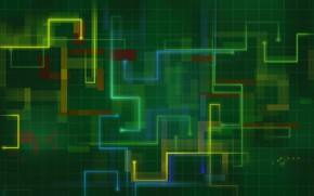 Picture mesh, colored lines, broken, squares rectangles