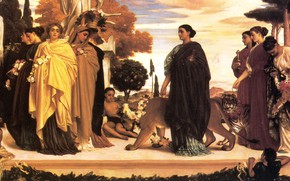 Picture tiger, antiquity, antique, cheetahs, Frederic Leighton, The Syracusan Bride