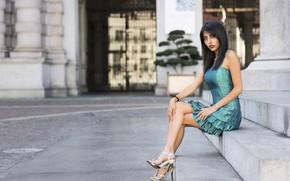 Picture summer, face, model, dress, steps, legs, Josimar