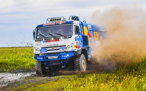 Picture The sky, Nature, Sport, Speed, Truck, Race, Master, Dirt, Beauty, Russia, Beast, Kamaz, Rally, Rally, …