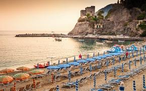 Picture sea, beach, rocks, shore, Italy, landscape, Italy, travel, Monterosso al Mare, Liguria