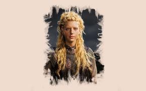 Picture art, Vikings, The Vikings, Katheryn Winnick, Lagertha