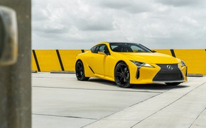 Picture yellow, design, Lexus, the front, Yellow, LC 500 6, AG JM