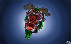 Picture Red, Monster, Green, Aggression, Evil, Horns, Fierce, Narsaid'Work