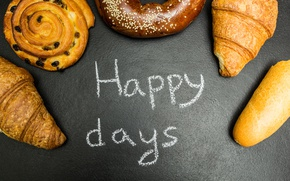 Picture donuts, cakes, croissants, growing, happy days