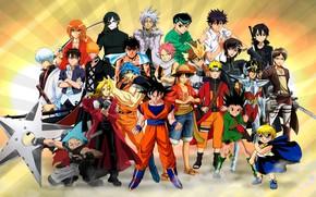 Picture game, Naruto, One Piece, Code Geass, anime, crossover, ninja, asian, Kurosaki Ichigo, Soul Eater, Beelzebub, …