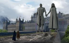 Picture fortress, statues, Marinon Town Concept