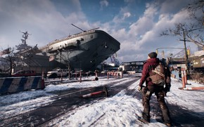 Picture winter, snow, ship, agent, new York, The Division