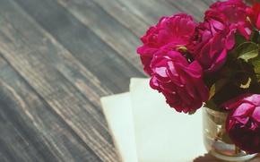 Picture vintage, wood, flowers, beautiful, peonies, purple, book, peony