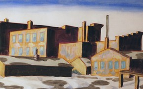 Picture 1920, Charles Ephraim Burchfield, Factories, Red Buildings