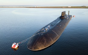 Picture submarine, Dmitry Donskoy, underwater nuclear cruiser