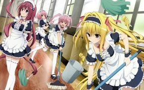 Picture anime, blonde, maid, bishojo, To Love-Ru, To Love-Ru Darkness