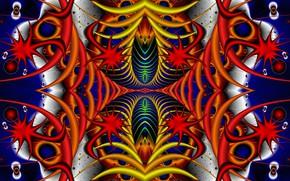 Picture fantasy, figure, symmetry