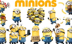 Picture yellow, animated film, Minions, Despicable Me 2, Despicable Me, Minion, Dave, animated movie, Bob, Despicable …