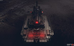Picture tank, back, Light tank concept