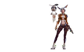 Picture fiction, minimalism, art, droid, Girl-Bunny, S SB