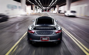 Wallpaper Porsche, road, 911, speed, the tunnel, Carrera