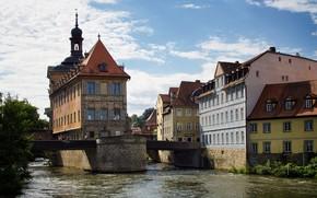 Picture bridge, river, Germany, Bayern, Bamberg