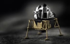 Picture background, model, Moon Lander, Lunar Module