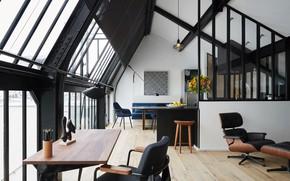 Picture design, Villa, living space, The Head in the Stars